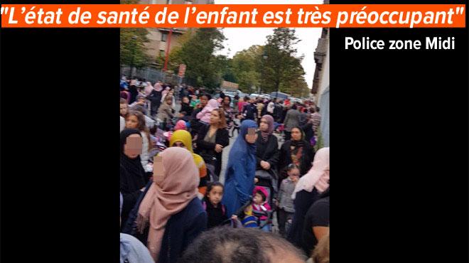 Anderlecht: manifestation devant une école après la chute d'un enfant dans un étang