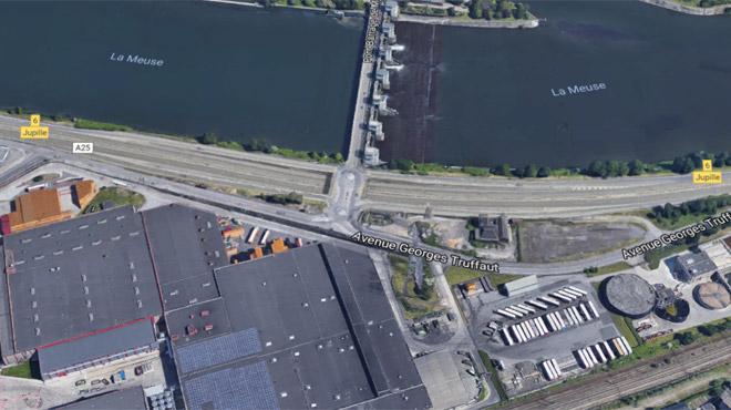 Problème de sécurité au pont de Jupille: l'autoroute E25 a été rouverte sur une bande