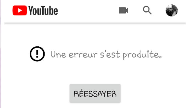 YouTube touché par une panne mondiale