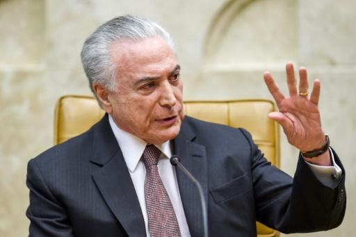 Brésil: la police demande l'inculpation du président Temer pour corruption
