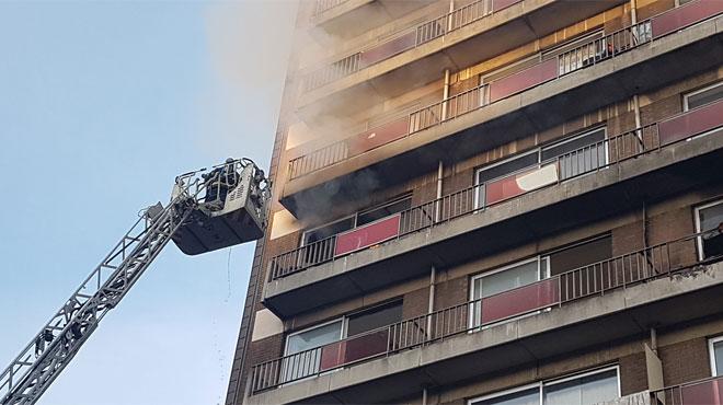 Incendie dans un immeuble à appartements à Charleroi: une altercation entre squatteurs pourrait être à l'origine du brasier