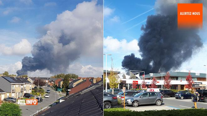 Violent incendie à l'entreprise Dely Wafels à Mouscron: