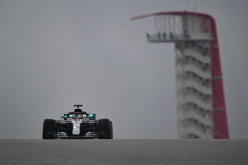 GP des Etats-Unis: Hamilton le plus rapide sous la pluie aux essais libres 1