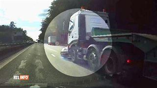 Ring de Bruxelles- un camion traîne une voiture sur plusieurs dizaines de mètres (vidéo) 2