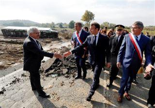On va faire vite, promet Macron aux sinistrés de l'Aude