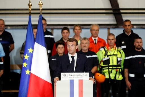 Macron promet aux sinistrés de l'Aude d'aller