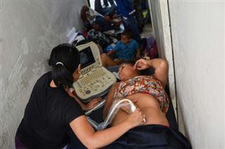 Une naissance au Mexique dans la caravane de migrants vers les Etats-Unis