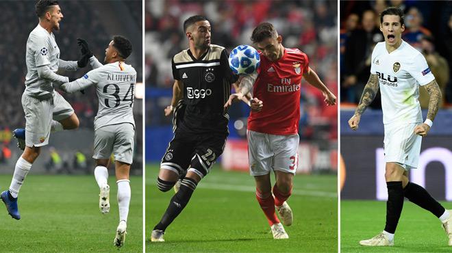 L'AS Rome et Valence font le job, l'Ajax Amsterdam et Benfica s'accrochent (vidéo)