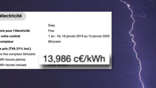 Le prix de l'électricité va augmenter de... 68% pour Laurent l'an prochain: et pour vous?