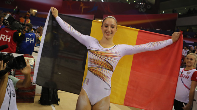 Nina Derwael, lauréate du Mérite Sportif