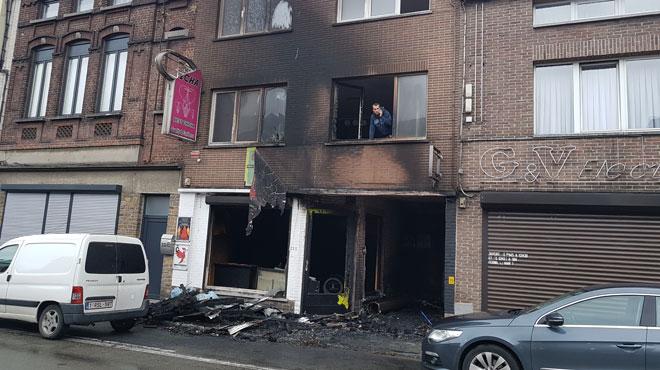 Marcinelle: un couple et ses trois enfants échappent aux flammes