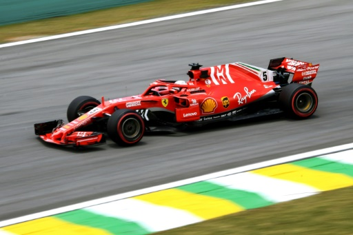 F1: nouveau record du circuit pour Vettel (Ferrari) lors des essais libres 3 du GP du Brésil