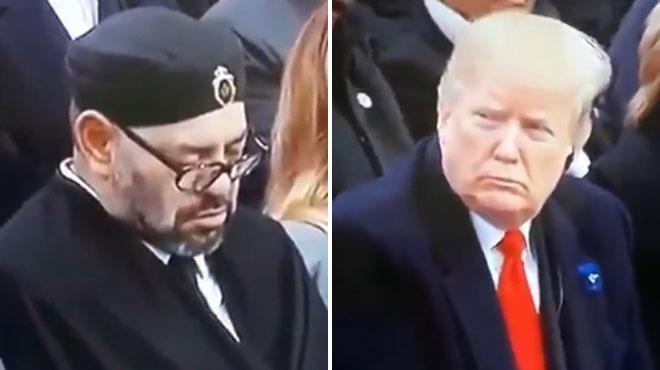 Le roi du Maroc s'endort pendant le discours de Macron: Trump le fusille du regard (vidéo)