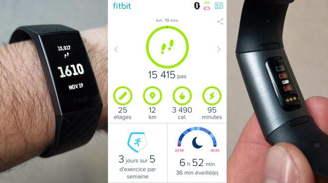 Les tests de Mathieu: à mi-chemin entre la montre connectée et le bracelet d'activité, le Charge 3 de Fitbit est le bon compromis