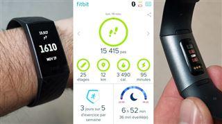Les tests de Mathieu- à mi-chemin entre la montre connectée et le bracelet d'activité, le Charge 3 de Fitbit est le bon compromis