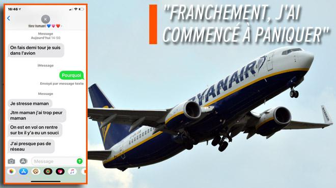 Caroline reçoit des SMS affolés de son fils à bord d'un vol Bruxelles - Barcelone, et pense à un crash: