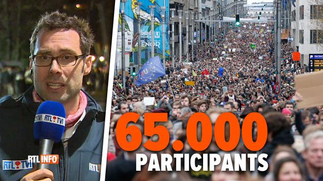 La Marche pour le climat à Bruxelles a été un énorme succès: