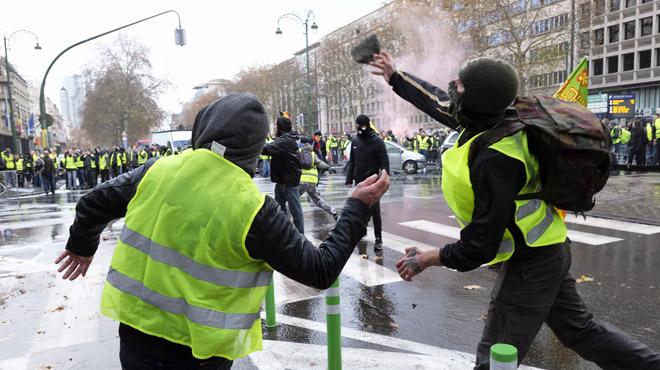 Manifestation des gilets jaunes à Bruxelles: les images ont permis d'identifier 9 personnes, deux d'entre elles arrêtées