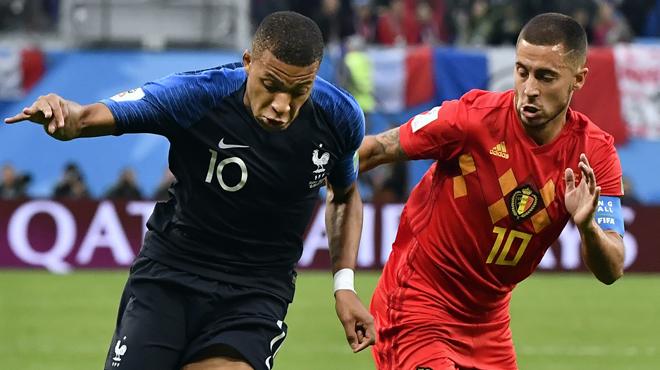 Kylian Mbappé couvre d'éloges Eden Hazard en parlant de France-Belgique: