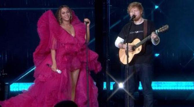 La prestation de Beyoncé et Ed Sheeran éclipsée par un débat sur... leurs vêtements