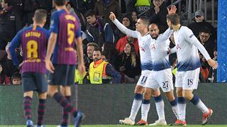 Tottenham ARRACHE sa qualification face au FC Barcelone (vidéo) 5