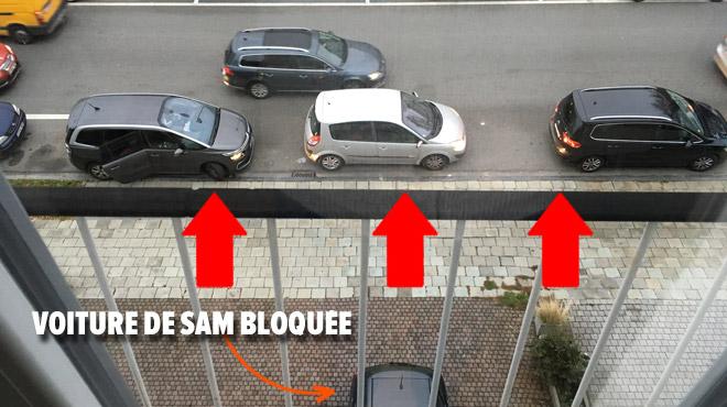 Sam, excédé par les parents qui déposent leurs enfants en face de chez lui à Laeken: