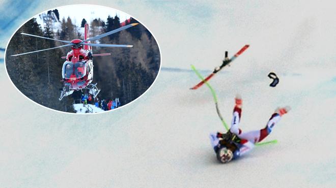 Ski alpin : l'énorme chute de Marc Gisin à plus de 120 km/h