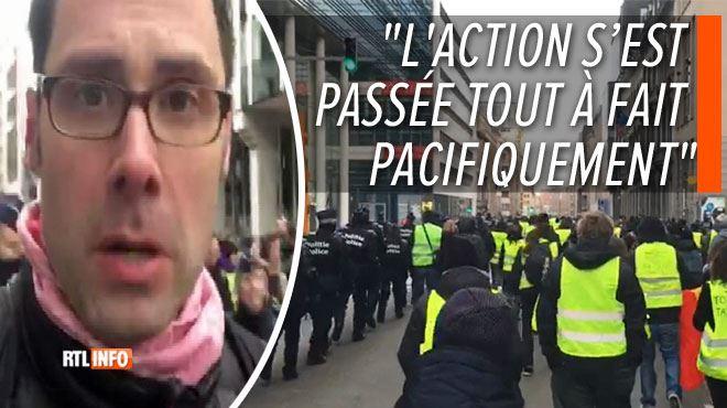 DIRECT gilets jaunes à Bruxelles- des centaines de personnes ont manifesté dans le quartier européen, encadrées par la police (vidéos) 1