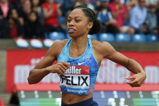 Athlétisme: la championne olympique Allyson Felix maman après une césarienne