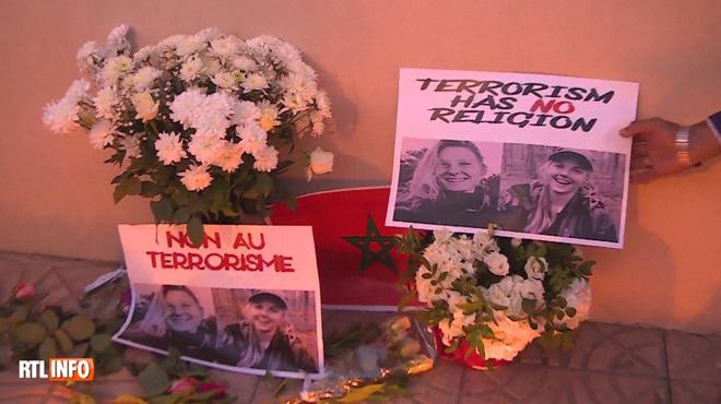 Des centaines de Marocains choqués manifestent après les meurtres de Louisa et Maren, deux touristes scandinaves