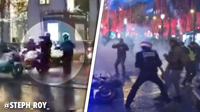 Des policiers à moto attaqués à Paris: une vidéo plus longue les montre lancer des grenades sur les gilets jaunes