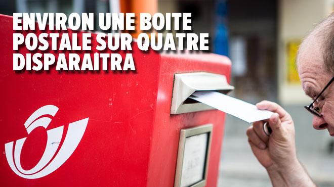 Les boites aux lettres rouges disparaîtront surtout en ville d'ici les prochains mois