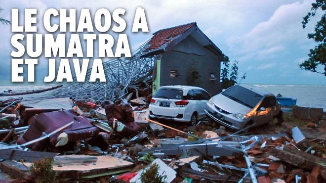 Le bilan du tsunami en Indonésie grimpe à 373 morts: