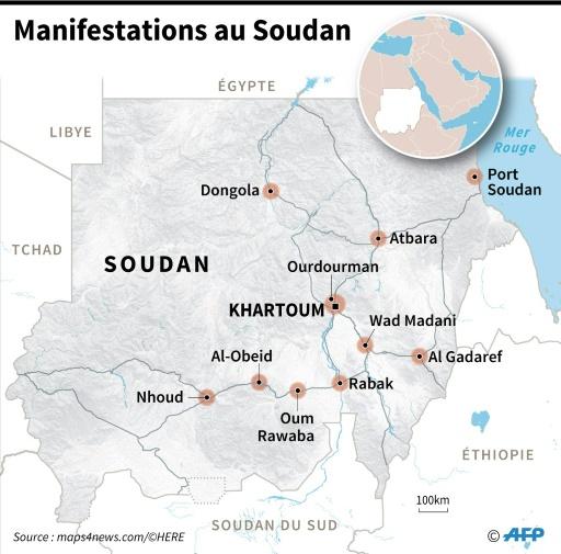 Soudan: manifestations à Khartoum, une marche vers la présidence empêchée