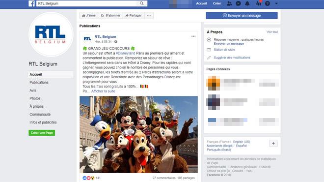 Attention, un compte se fait passer pour RTL et prétend faire gagner des places pour Disneyland Paris: comment ne pas se faire piéger