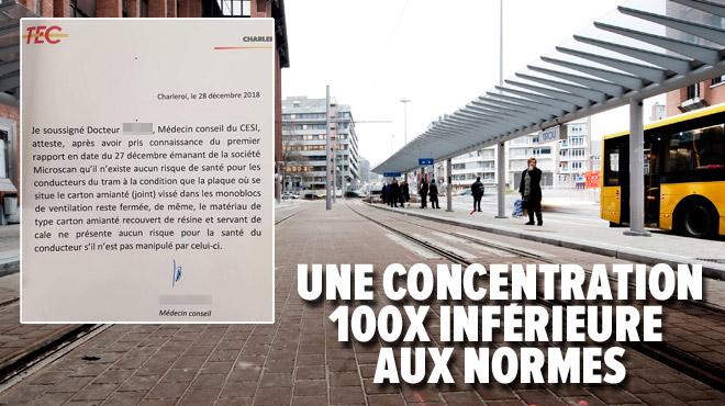 La ventilation coupée dans les trams à Charleroi après la découverte d'amiante: existe-t-il un danger pour les passagers et le personnel?
