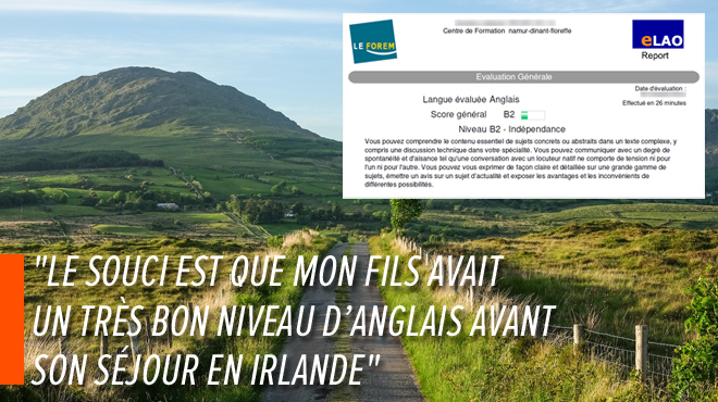 La bourse du fils de Valérie réduite de 1.000€ après un séjour linguistique en Irlande: