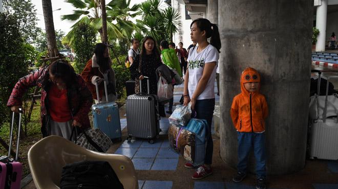 Tempête Pabuk: habitants et touristes se préparent sur les îles du golfe de Thaïlande