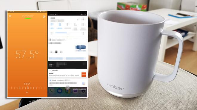 La tasse chauffante et connectée: futilité extrême ou invention de l'année?