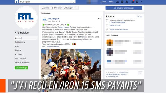 Denise, victime de la fausse page Facebook de RTL Belgium promettant un voyage à Disneyland: