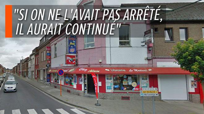 Un homme vandalise des voitures, agresse une dame puis s'en prend à une librairie à La Louvière: