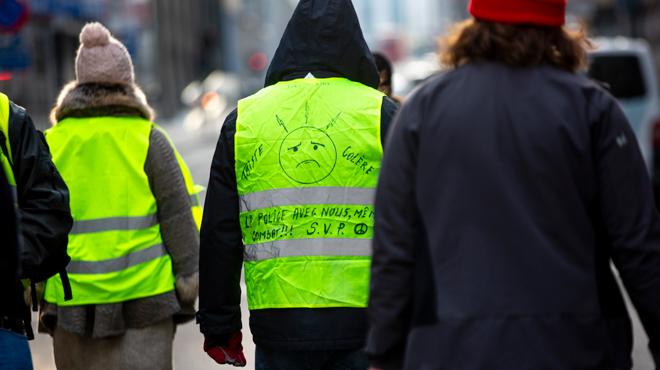 Une quinzaine de gilets jaunes réunis à Bruxelles selon la police