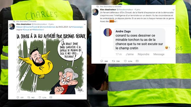 Le dessinateur Alex porte plainte après des menaces de mort