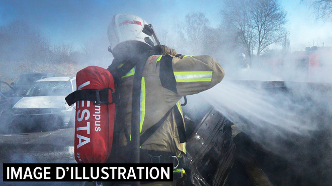 Incendie suspect dans une carrosserie à Nivelles