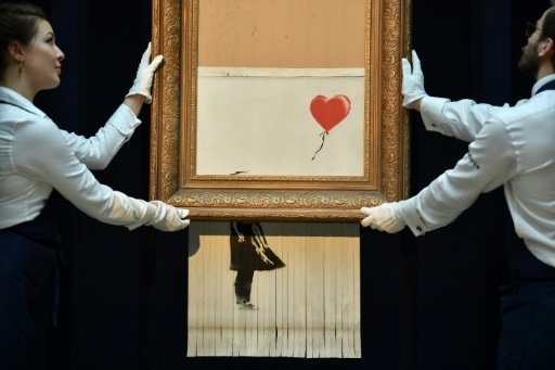 La toile autodétruite de Banksy exposée en Allemagne