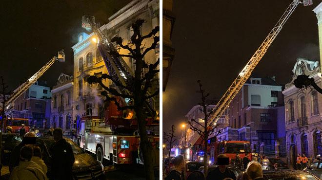 Ixelles: trois personnes sauvées des flammes
