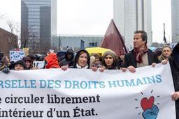 Quelque 2.500 personnes ont manifesté à Bruxelles pour une vraie justice migratoire