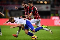 Les Belges à l'étranger - La Sampdoria et Praet éliminés aux prolongations en huitièmes de Coupe par le Milan AC