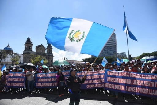 Guatemala: manifestation contre la fin de la mission anticorruption de l'ONU