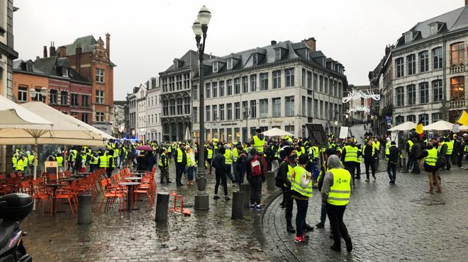 L'action des gilets jaunes à Mons avait bien commencé, mais
